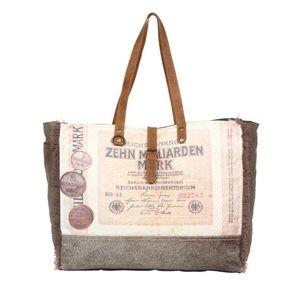 Handbags - 💥NEW💥 Upcycled Canvas Weekender Bag
